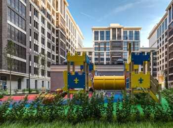Детские площадки в жилом комплексе Наследие